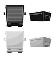 isolated object of goods and cargo icon set of vector image vector image