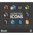 Isometric outline icons set 43 vector image vector image