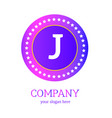 j letter logo design j icon colorful and modern vector image vector image