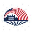 labor day celebration a patriotic event vector image