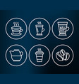 latte coffee cup and frappe icons takeaway milk vector image