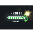 Loading your Dollar profit vector image vector image