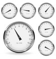 manometer round gauges with metal frame vector image vector image