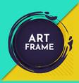 modern art frame vector image vector image