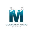 modern letter m vector image vector image
