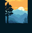 national park colorful vintage template vector image vector image