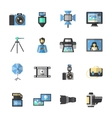 Photography Icons Flat vector image