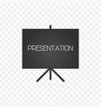 projector screen icon presentation sign vector image