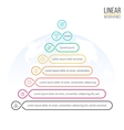 Pyramid for infographics Business diagram chart vector image vector image