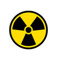 radioactive icon nuclear symbol uranium reactor vector image