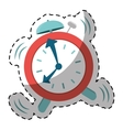 red alarms clock icon image vector image