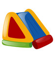 rubber slide on white background vector image vector image