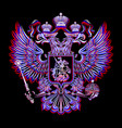 russian coat of arms on a black background in vector image vector image