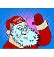 Santa Claus cat vector image vector image