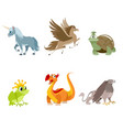 set fabulous creatures vector image