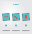 set of dress icons flat style symbols with shorts vector image