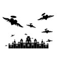 silhouette city of angel vector image vector image
