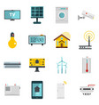 smart home house icons set in flat style vector image vector image