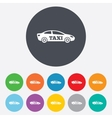 Taxi car sign icon Sedan saloon symbol vector image