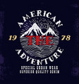 The American AdventurePrint design vector image