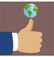 Thumb Global vector image vector image
