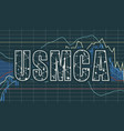 usmca - united states mexico canada agreement vector image
