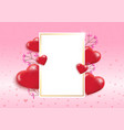 valentines day background with textbox vector image