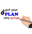 hand writing plan concept vector image