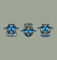 a set of colorful logos badges emblems vector image