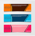 abstract design banner web template with three vector image