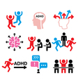 ADHD - Attention deficit hyperactivity disorder vector image vector image