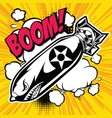 air bomb flying tiger shark mouth sticker vinyl c