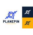 air pin location logo concept location finder pin vector image vector image