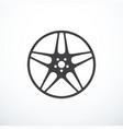alloy wheel icon vector image vector image