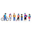 back to school background diversity concept for vector image