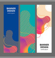banner background design colored modern abstract vector image