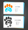 barber animal business card vector image vector image