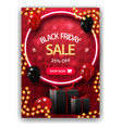 black friday sale up to 25 off red vertical vector image