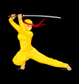 Bright female ninja vector image vector image