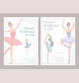 bundle of poster or flyer templates for ballet vector image vector image