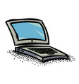 cartoon image of laptop icon computer symbol vector image vector image