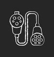 charging adapter and converter chalk white icon vector image vector image