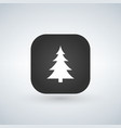 christmas tree or forest sign icon over the vector image