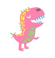 colorful funny dinosaur prehistoric animal vector image