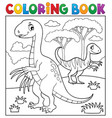 coloring book dinosaur subject image 4 vector image vector image