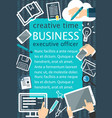 creative team flat banner for business concept vector image