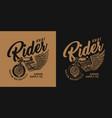 custom motorcycle vintage print vector image