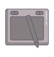 designer tablet with pencil electronic vector image