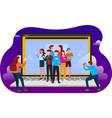 digital media marketing and collaboration vector image vector image