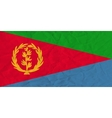 Eritrea paper flag vector image vector image